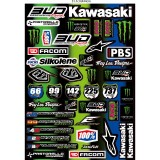 Planche Stickers Team Bud Racing 2014