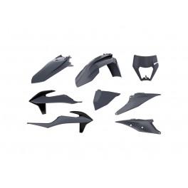 Kit plastique POLISPORT gris nardo KTM