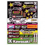 Planche stickers Bud Racing/Rockstar team 13